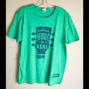 Other - Nashville Music Is Real Green T-shirt Mens Large